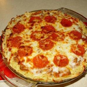 Пирог из спагетти - фото шаг 7