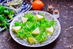 Салат с креветками и мандаринами - фото шаг 3