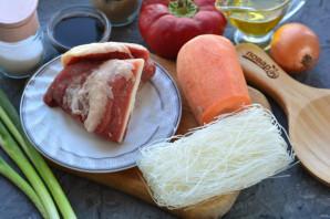 Суп с рисовой лапшой и говядиной - фото шаг 1