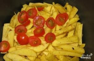 Картошка с сыром сулугуни - фото шаг 5