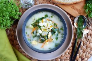 Суп из шпината с сыром