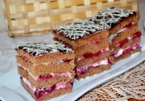 Сметанный торт с вишней - фото шаг 13