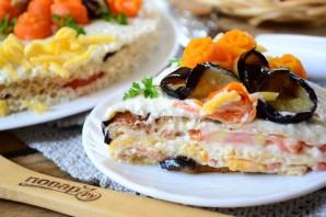 Торт из баклажанов с помидорами и сыром - фото шаг 11