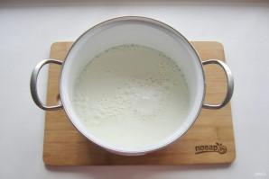 Домашний сыр из кефира и яиц - фото шаг 2
