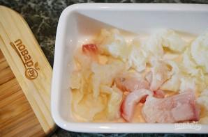 Пирог с рыбой и луком в горчичном соусе - фото шаг 6