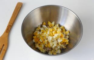 Машеровский салат с грибами - фото шаг 3