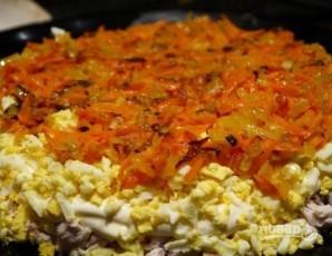 Салат с грибами, курицей - фото шаг 7