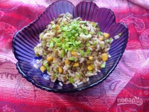 Турецкий салат с рисом и чечевицей - фото шаг 7