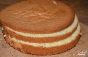 Бисквитно-фруктовый торт - фото шаг 2