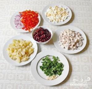 Салат с курицей и фасолью - фото шаг 5