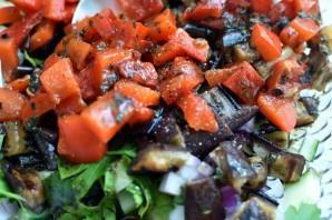 Салат из овощей-гриль со свежим огурцом - фото шаг 5