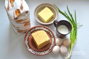 Пирог с сыром и зеленым луком - фото шаг 1