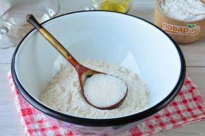 Постный пирог с персиками - фото шаг 2