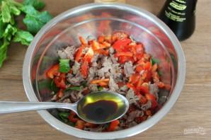 Салат с мясом и соевым соусом - фото шаг 7
