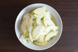 "Пирог ""Хризантема"" с яблоками - фото шаг 9"