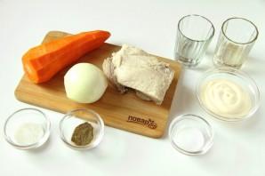 Салат из свинины и моркови - фото шаг 1