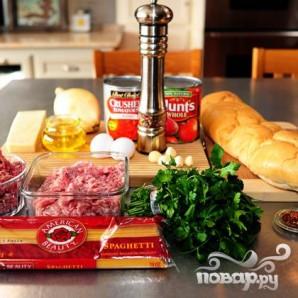 Спагетти с фрикадельками - фото шаг 1