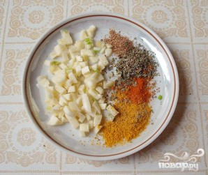 Суп из семги с зеленым горошком - фото шаг 3