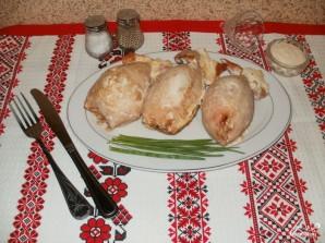 Фаршированные кальмары с рисом и яйцом - фото шаг 8