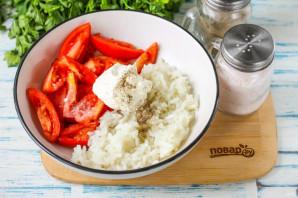Салат из помидоров с рисом - фото шаг 4