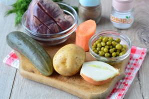 Слоеный салат с сердцем - фото шаг 1