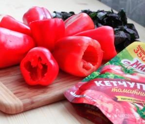 Лучший рецепт фаршированных перцев с кетчупом - фото шаг 3
