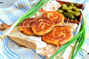 Картофельные колбаски с ветчиной - фото шаг 6