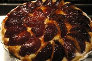 Торт с заварным кремом и сливами - фото шаг 10