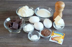 Шоколадное печенье с кракелюрами - фото шаг 1