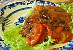 Говядина с баклажанами и помидорами - фото шаг 13