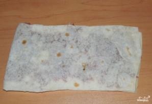 Ленивые чебуреки из лаваша - фото шаг 3