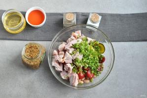 Салат без майонеза с курицей - фото шаг 3