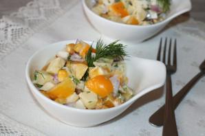 Салат с яблоком и болгарским перцем - фото шаг 8