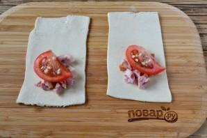 Быстрые пирожки с цыпленком и помидорами - фото шаг 3
