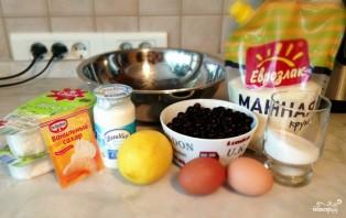 Творожное тесто с ягодами - фото шаг 1