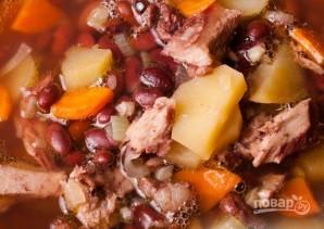 Суп из красной фасоли со свининой - фото шаг 3