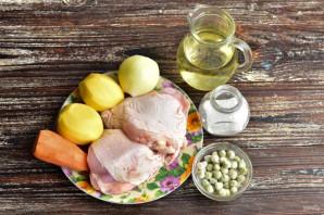 Суп с мясом и зеленым горошком - фото шаг 1
