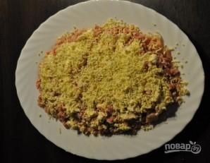 Салат с виноградом и копченой курицей - фото шаг 8