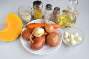 Тыквенный суп с моцареллой - фото шаг 1