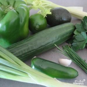 Зеленый гаспачо для сыроедов - фото шаг 1