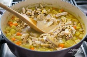 Зимний суп с курицей - фото шаг 7