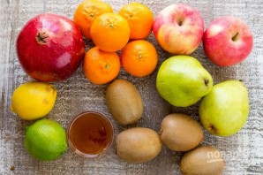 Зимний фруктовый салат - фото шаг 1