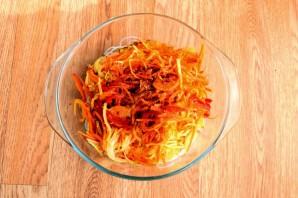 Салат из фунчозы с кальмарами - фото шаг 7