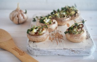 Вегетарианские фаршированные грибочки - фото шаг 7