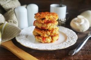 Сырники с беконом и грибами - фото шаг 6