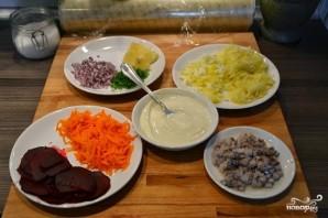 Селедка под шубой с горчичным соусом - фото шаг 1