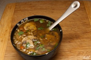 Постный суп с гречкой - фото шаг 4