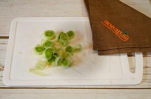 Фриттата с лососем, картофелем и стручковой фасолью - фото шаг 5