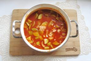 Лечо из кабачков и перцев с томатной пастой - фото шаг 9