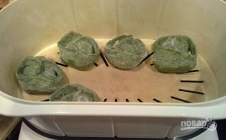 Манты зелёные - фото шаг 8